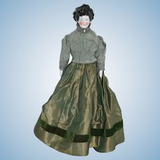 Antique A.W. Fr. Kister Wrap Twisted Braid Bun Hair Style China Head Doll