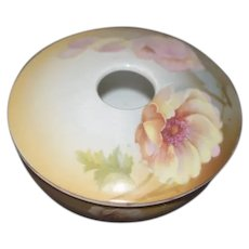 Gorgeous Old Hair Receiver RS Germany Porcelain Vanity Box