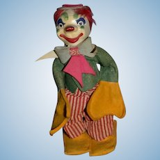 Old Clown Jester Doll Jointed Unusual Character