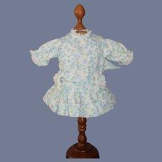 Sweet Doll Dress Floral W/ Drop Waist and Sash Belt