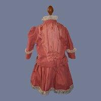 Wonderful Doll Dress High Collar Lace French Market