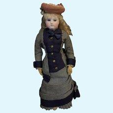 Antique French Bisque Fashion Doll Poupee W/ Maison Simonne Tag