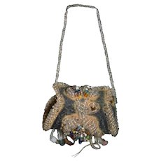 Antique Beaded Purse For Doll Perfect Fashion Doll Ornate