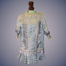 Wonderful French Market Doll Dress Antique Material