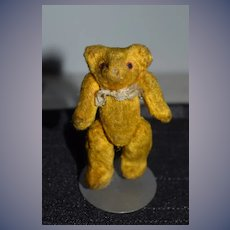 Old Miniature Teddy Bear Jointed Sweet Doll Friend