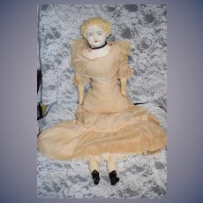 Old Doll Chalkware China Head Doll Large: