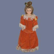 Antique Doll Papier Mache Glass Eyes Antique Doll Clothes