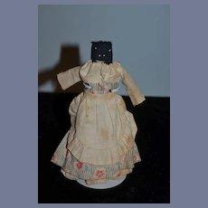 Old Black Petite Cloth Doll Folk Art Unusual