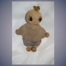 Old Cloth Stockinette Doll Sewn Features