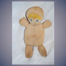 Old Doll Stockinette Painted and Drawn Features