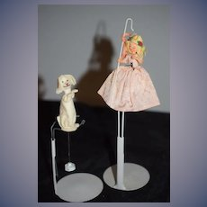 Vintage Doll Miniature BAPS Little Bo Peep & Dog Puppet
