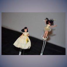 Vintage Doll Miniature BAPS Character Dolls Set Puppet