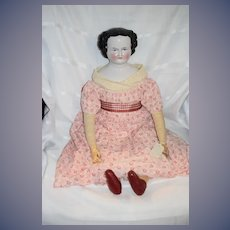Antique HUGE Doll China Head Wonderful Dressed w/ Provenance
