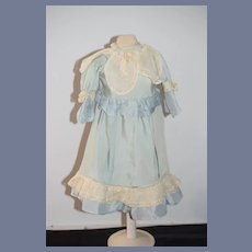 Wonderful Old Doll Dress Lace Fancy French Market Hand Made