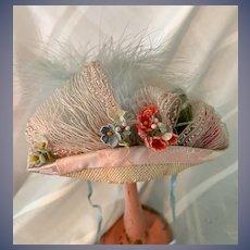 Wonderful Doll Bonnet Artist Designed By Shirley I. Derr Gorgeous Flip Top