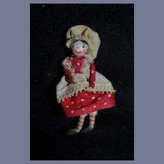 Old Miniature Unusual Artist Doll Dollhouse Sweet