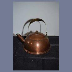 Old Copper Miniature Teapot Sweden Doll Size