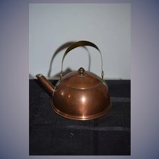 Old Copper Miniature Teapot Sweden Doll Size