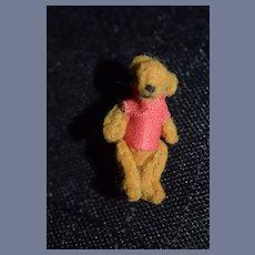 Sweet Miniature Artist Teddy Bear Jointed Doll Dollhouse TINY Dressed