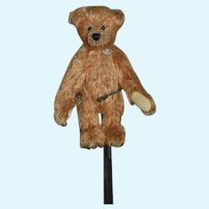 """Vintage Artist Miniature Mohair Teddy Bear Jointed 4 1/2"""" Tall"""