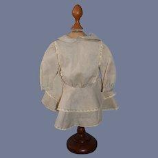 Sweet Hand Made Doll Dress Drop Waist Peter Pan Collar