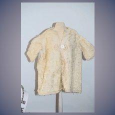Antique Doll Swing Coat Jacket Fancy Lambs Wool