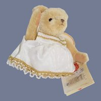 Vintage Mohair Teddy Bear Angel Limited Edition W/ Tag Hermann Teddy Original