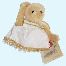 Vintage Mohair Teddy Bear Angel Limited Edition W/ Tag Hermann Teddy Original