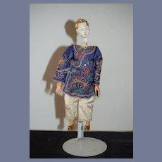 Old Oriental Opera Doll In Original Costume