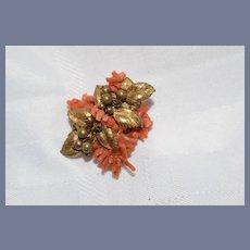 Wonderful Old Brooch Coral Fancy