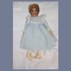 Wonderful Old Cloth Doll Award Winner Printed Face Nicely Dressed Old Shoes