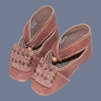 Fancy Leather Doll Shoes Artist Made GORGEOUS French Market