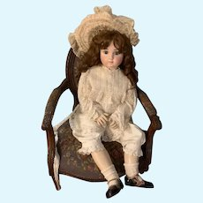 """Antique Doll HUGE French Bisque BeBe Series C STEINER 36"""" Tall Chunky Body"""