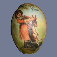 Wonderful Miniature Easter Egg W/ Miniature Doll Artist Adorable