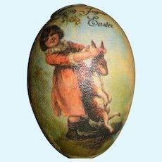 Wonderful Miniature Easter Egg W/ Miniature Doll Artist Adorable