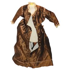 Vintage Doll Dress Fashion Doll B.E. Wakeman Lace Trim
