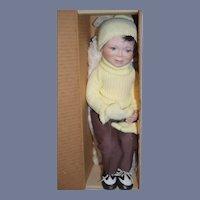 Vintage Doll Artist L. Garrard American Doll Artist Character Boy W/ Gloves