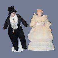 Artist Doll Set Lady Doll Man Doll Miniature Dollhouse