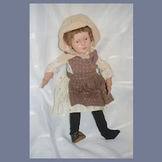 Antique Doll Wood Carved Schoenhut Large 308 C