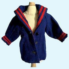 Sweet Vintage Wool Blend Doll Sailor Coat Jacket
