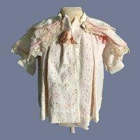 Wonderful Vintage Doll Lace Jacket Coat W/ Cape