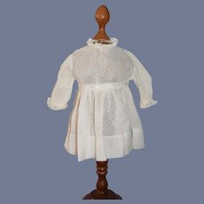 Sweet Old Cotton Doll Dress Threaded Ribbon Lace Trim