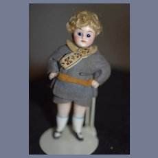 Antique Doll Sweet All Bisque Miniature Jointed Dollhouse Factory Clothing