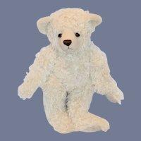 Vintage Teddy Bear Jointed Sleepy Bear Adorable Curly Mohair