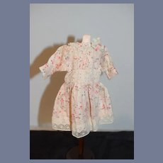 Wonderful Old Doll Dress Floral and Lace Petite Doll