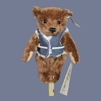 Wonderful Steiff Teddy Bear Special Delivery Miniature W/ Button Tag Chest Tag Wrist Tag 665226