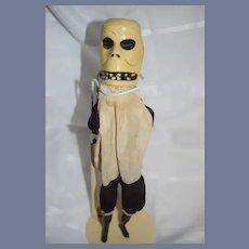 Wonderful Old Doll Ghost From Punch and Judy Wood Puppet