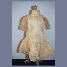 Old Doll Dress W Lace French Market