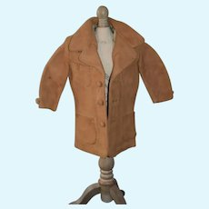 Wonderful Old Leather Doll Coat Jacket WONDERFUL