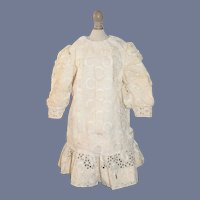 Wonderful Lace Doll Dress Drop Waist Lace w/ Fancy Cut out Design